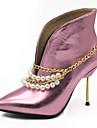 Femme Chaussures Similicuir Hiver Automne Bottes a la Mode Botillons Doublure fluff Bottes Talon Aiguille Bout pointu Bottine/Demi Botte