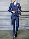 Bărbați Rever Clasic Costum Casul/Zilnic Plus Size Simplu,Dungi Manșon Lung Toamnă Iarnă-Regular Poliester