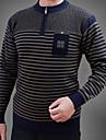 Bărbați Casul/Zilnic Regular Plover-Dungi Manșon Lung Rotund Bumbac Toamnă Mediu Micro-elastic