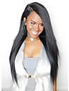 Remy-hår Spetsfront Peruk Malaysiskt hår Rak 180% Densitet 100 % handbundet Lång Dam Äkta peruker med hätta