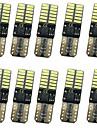 10pcs T10 Automatique Ampoules electriques 12W SMD 4014 1000lm 24 Eclairage exterieur For Universel Tous les modeles Toutes les Annees