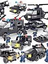SHIBIAO Lego 359 pcs Simplu Reparații Mașini de Poliție Elicopter Politie Pentru copii Adulți Băieți Cadou