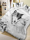 Duvet Cover Sets 3D Polyester Reactive Print 4 PieceBedding Sets / 300 / 4pcs (1 Duvet Cover, 1 Flat Sheet, 2 Shams)