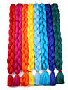 Crochet 100% cheveux kanekalon Cheveux Synthetiques 1 pc / paquet Tresses Jumbo Cheveux Tressee Long