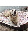 Câine Paturi Animale de Companie  Rogojini & Pernuțe Geometric Keep Warm Bej Roz Camel