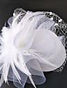 Net Palarioare Palarie Veșminte de cap Birdcage Veils with Floral 1 buc Nuntă Ocazie specială Diadema