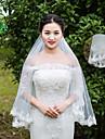 Voal de Nuntă Un nivel Voaluri Lungi Până la Cot Voaluri Lungime Până la Vârfurile Degetelor Dantelă Tulle