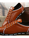 Bărbați Pantofi PU Primăvară Toamnă Confortabili Oxfords Pentru Casual Negru Galben Maro Rosu Albastru