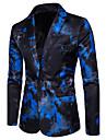 Bărbați Mărime Plus Size Blazer Petrecere Muncă Supradimensionat Imprimeu Bumbac