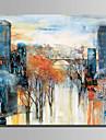 Dipinta a mano Paesaggi Quadrato, Astratto Tela Hang-Dipinto ad olio Decorazioni per la casa Un Pannello