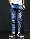 Bărbați Harem Simplu Talie Medie,Micro-elastic Blugi Pantaloni Mată