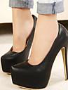 Femme Chaussures Polyurethane Printemps / Automne Confort Chaussures a Talons pour Noir