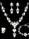 Women\'s Bracelet Necklace Synthetic Diamond Imitation Pearl Rhinestone Alloy Geometric Wedding Party Earrings Necklaces Bracelets Ring