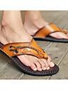Bărbați Pantofi Piele Primăvară Vară Tălpi cu Lumini Papuci & Flip-flops Pentru Casual Maro Albastru