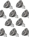 10pcs 3W 250 lm GU10 LED-spotlights 3 lysdioder Högeffekts-LED Dekorativ Varmvit Kallvit AC 220-240V