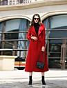 Pentru femei Palton Muncă Vintage - Mată Lână