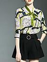 Pentru femei Guler Cămașă Bluză Imprimeu Bumbac