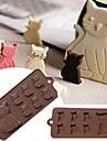 Cookie Tools Katt tecknad Shaped För Godis Kakor Tårta Muffin Kaka Silikon