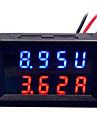 diy pratique double 0,28 pouce 3 chiffres rouge bleu led affichage courantometre (dc 0 - 100v / 50a)
