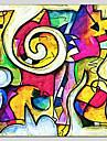 HANDMÅLAD Abstrakt Fyrkantig, Abstrakt Realism Parfymerad Duk Hang målad oljemålning Hem-dekoration En panel