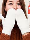 Damă Solid Toamnă Iarnă Accesorii Casual Desen animat Mănuși de Iarnă Keep Warm Modă Îmbrăcăminte tricotată Încântător Lână Blană de