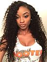Äkta hår Spetsfront Peruk Brasilianskt hår Lockigt Frisyr i lager Med babyhår 130% Densitet obearbetade 100% Jungfru Till färgade kvinnor