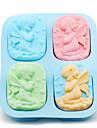 4 găuri îngerii silicon mucegai înger cuplu săpun mucegai tort maker instrument aleatoare de culoare