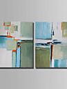 Pictat manual Abstract Orizontal,Simplu Două Panouri Canava Hang-pictate pictură în ulei For Pagina de decorare