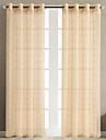 Stångficka Hyls-topp Hällor topp Dubbel veckad Penn veck Fönster Behandling Moderna Land, Jacquard Galler Vardagsrum Polyester Material