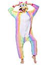 Kigurumi-pyjamas Pegasus / Unicorn Onesie-pyjamas Kostym Flanelltyg Regnbåge Cosplay För Vuxna Pyjamas med djur Tecknad serie halloween