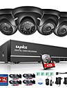 Sannce® 8ch 4pcs cameră video HD 720p HD 1080n sistem de supraveghere dvr cu viziune de noapte ir & monitorizare mobilă ușoară 1tb