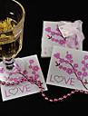 Hârtie Reciclabilă Stil Floral Favoruri Coaster-1 Piece / Set Floral & Botanicals