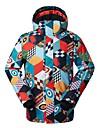 Homme Veste de Ski Etanche Coupe Vent Chaud Ski Ecologique Polyester Tissu de soie doudoune / Anorak en Duvet Tenue de Ski / Hiver