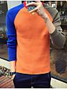 Bărbați Casul/Zilnic Scurt Plover-Bloc Culoare Manșon Lung Rotund Bumbac Toamnă Iarnă Mediu Micro-elastic