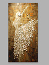 Peint a la main Personnage Format Vertical,Moderne Un Panneau Toile Peinture a l\'huile Hang-peint For Decoration d\'interieur