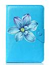 universell blomma pu läderfodral fodral för 7 tums 8 tums 9 tums 10 tums tablet pc