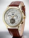 Bărbați Ceas Casual Ceas La Modă Ceas Elegant Ceas de Mână Mecanism automat Calendar Oțel inoxidabil Piele Bandă Casual Cool
