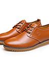 Bărbați Pantofi Piele Primăvară Toamnă Confortabili Oxfords Pentru Casual Negru Galben Maro