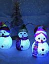 1PC زينة عيد الميلاد اللون تغيير الصمام ثلج السنة الجديدة ديكورات المزاج مصباح شجرة عيد الميلاد الطرف الديكور