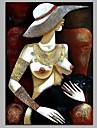 fată modernă 100% pictată manual picturile contemporane de ulei artă modernă de artă de perete pentru decorarea camerei