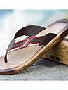 Bărbați Pantofi Piele PVC Vară Tălpi cu Lumini Papuci & Flip-flops Pentru Casual Negru Maro