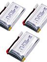 SH5 SH5W SH5HD X52HD 3個 バッテリー RCクワッドローター 一般 RCクワッドローター 一般 -