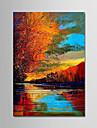 Pictat manual Peisaj Vertical,Modern Un Panou Canava Hang-pictate pictură în ulei For Pagina de decorare