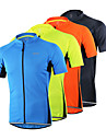 Arsuxeo Men\'s Short Sleeve Cycling Jersey - Light Yellow Light Blue Dark Gray Solid Color Bike Jersey Top Breathable Quick Dry Anatomic Design Sports 100% Polyester Mountain Bike MTB Road Bike Cycling