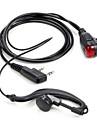 365 universella 2 stift för walkie talkie headset hörlurar hörlurar snäcka med signalindikator