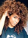 Sintetičke perike Kovrčav Stil Capless Perika Smeđa Bež Sintentička kosa Žene Afro-američka perika Smeđa Perika Srednja dužina Cosplay perika
