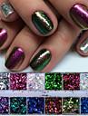 1 Nail Glitter Poudre de paillettes Paillettes Classique Haute qualite Quotidien Nail Art Design