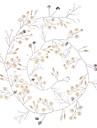 Imitație de Perle Sârmă de cupru Banderolele Instrumentul pentru păr Lantul Capului with Perlă Artificială Detalii Cristal 1 buc Nuntă