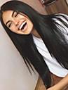 Obehandlad hår Spetsfront Peruk Brasilianskt hår Rak 130% Densitet Med Babyhår obearbetade Till färgade kvinnor Lång Dam Äkta peruker med