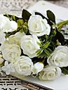 10 huvud / gren europeisk stil av den lilla rosen hemmet bröllop dekoration dekorerad konstgjord brud blommor buketter
